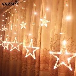 3M 96 المصابيح الجنية ستار LED الستار سلسلة ضوء AC220V 110V عيد الميلاد رومانسية الإضاءة ل عطلة الزفاف جارلاند حزب