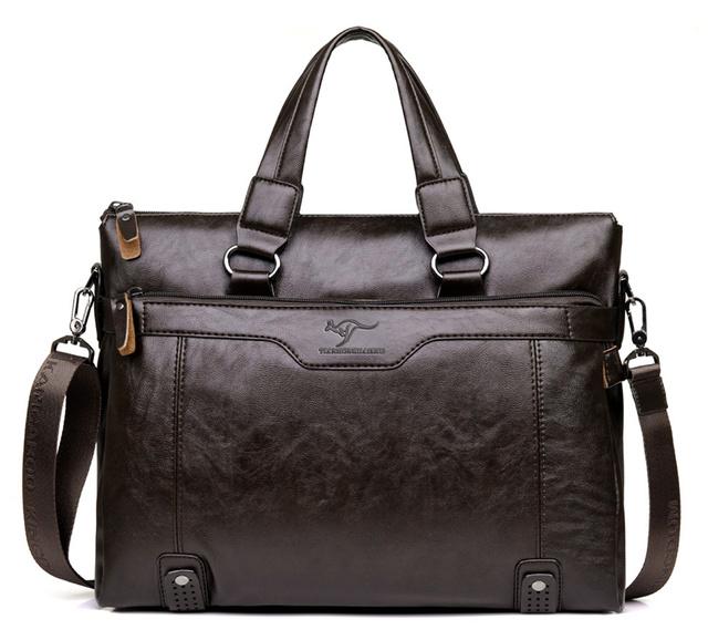 "Mannen Lederen Aktetas Schouder Tas voor 14 ""Laptop mannen Crossbody Aktetas Tassen man Handtas Messenger bags"