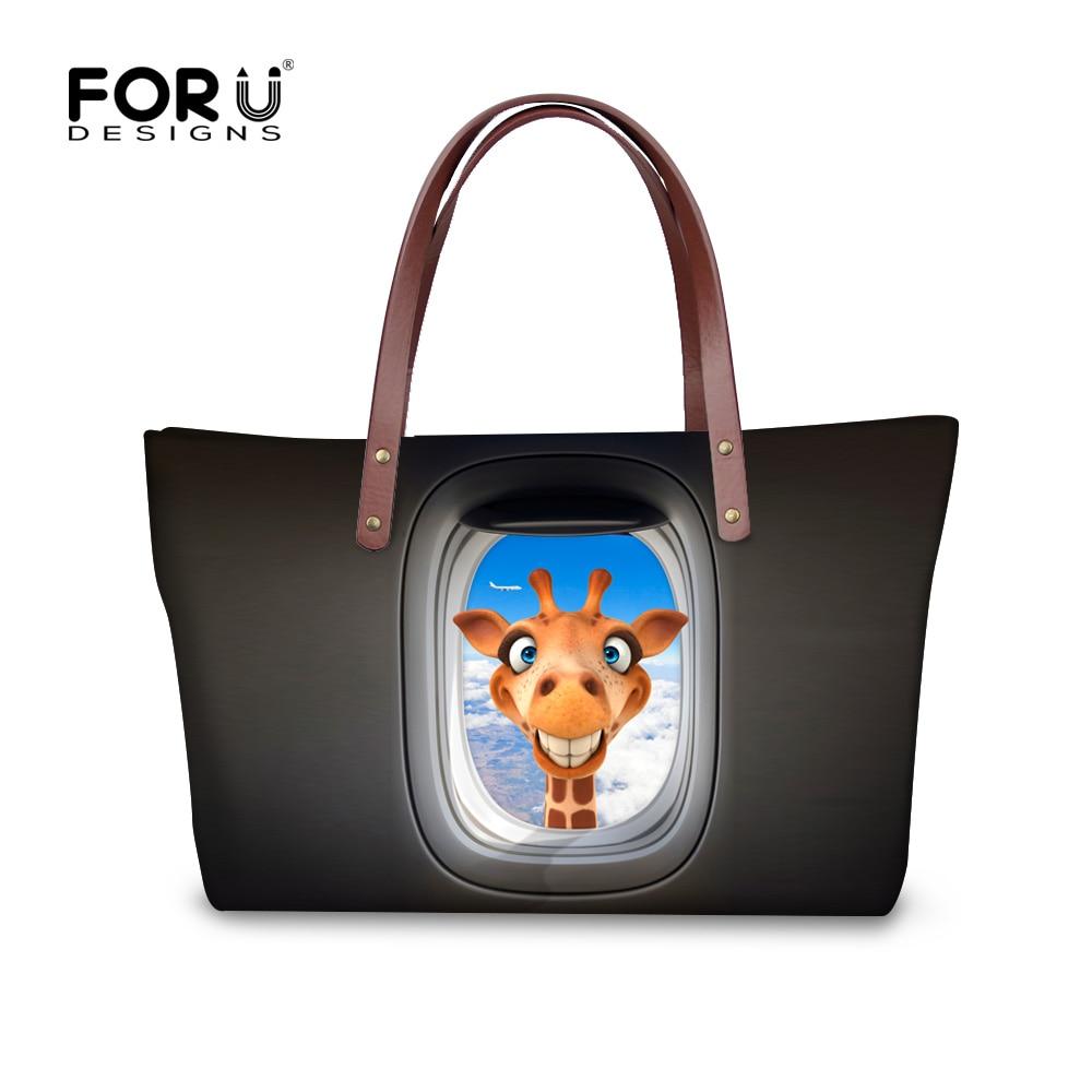 ФОТО Original brand black women handbags waterproof soft larger tote 3d animal big travel bag ladies messenger bags bolsa feminina