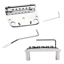 Exquisite 6 String Guitar Tremolo Bridge Tailpiece Set for Jazzmaster Guitar Accessory Chrome цены
