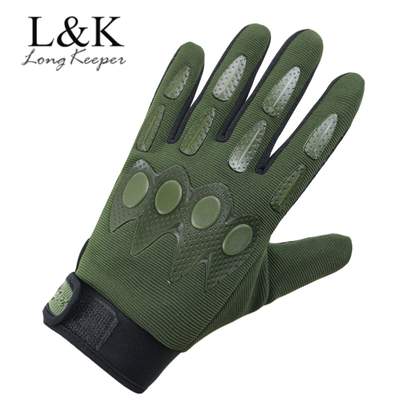 Men Tactical Full Fingers Gloves Camouflage Army Green Cycling Outdoor Sports Guantes Male Cool Anti-slip Breathable Camo Gloves