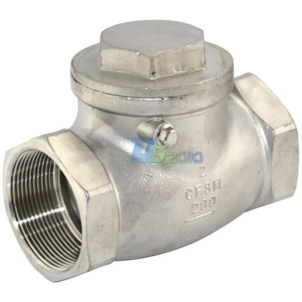 """MEGAIRON 2"""" Swing Check Valve WOG 200 PSI PN16 Stainless Steel SS316 CF8M-in Valve from Home Improvement    1"""