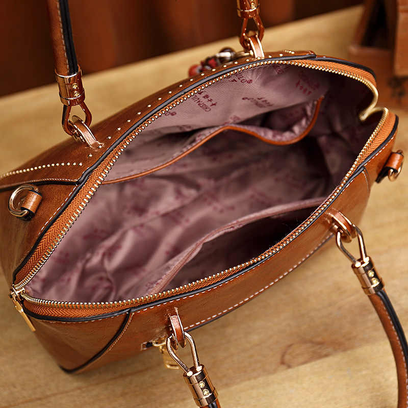 Casual luxury handbags women bags designer ladies hand bags Genuine Leather Shoulder crossbody bag for women 2018 bolsas New T55