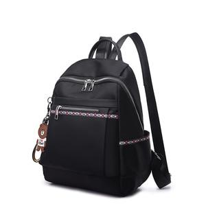 Image 2 - Yüksek Kaliteli Naylon Kadın Fermuar okul çantası Genç için Sırt Çantası Kızlar Yumuşak Saplı Taşınabilir Schoolbag Öğrenci Anti theft Sırt Çantası