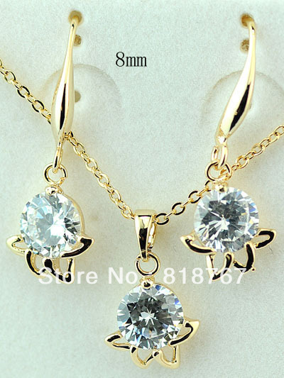 Simple And Delicate Plating 14k Real Gold Jewelry Set Design For