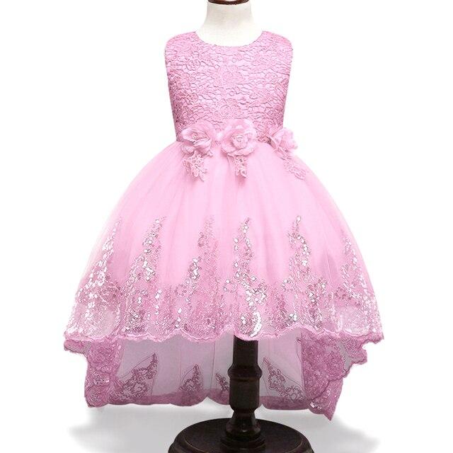 79d15abb084 Robe de fille de haute qualité princesse dentelle Sequin robes pour les  filles 3-12