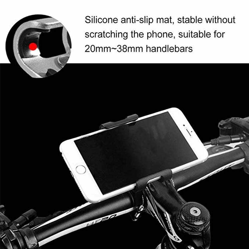 bike phone holder aluminum alloy adjustable bicycle bracket for 3.8-6.5'' mobile phone