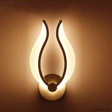 Led ライト現代の壁ランプアクリル燭台 10 ワット AC90 260V 屋内リビングルーム廊下アート装飾
