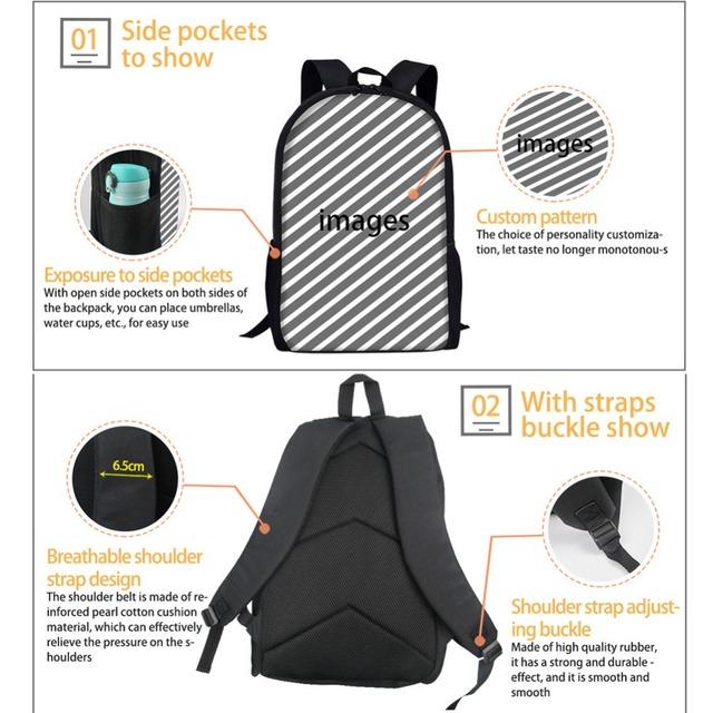 Fashion 3D Dog Patterned Backpack