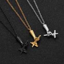 ZFVB NEW Jesus Cremation Ashes Urn Pendant Necklaces Stainless Steel Religious Cross Necklace Memorial Jewelry