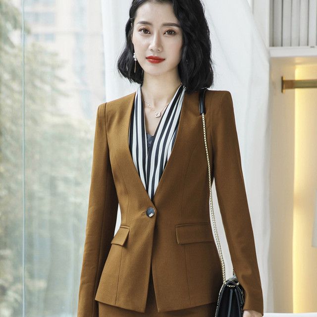 Women Blazer Autumn Winter...