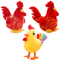 2017 New year decorations Chicken mascot Stuffed plush Chicken doll toys Year of the rooster supplies Animal doll toy baby toy