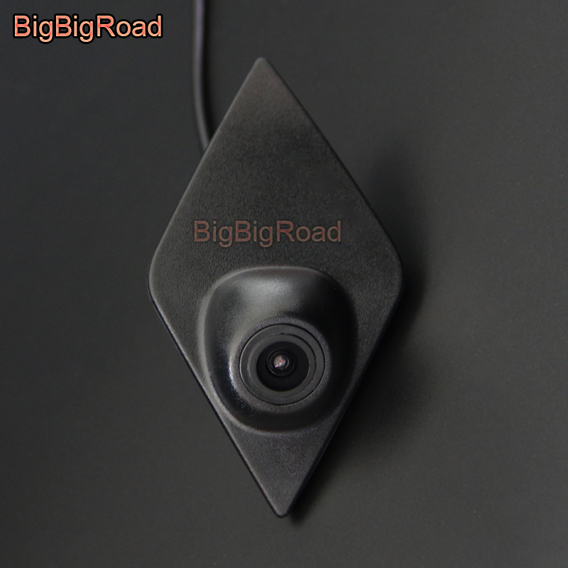 BigBigRoad For Renault Koleos Kadjar 2016 2017 2018 2019 CCD Car Front View Logo Camera Cam