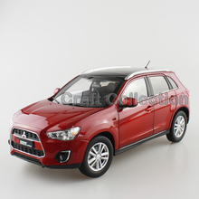 * Red 1:18 Mitsubishi ASX 2015 SUV Diecast Model Show Car Miniature Toys Classcal Limited Edition