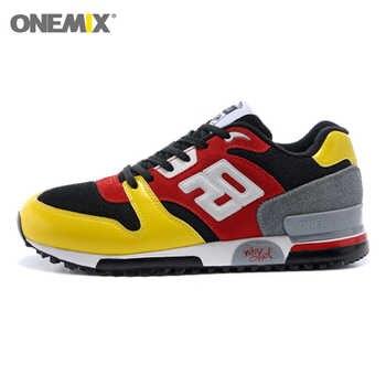 ONEMIX Men Retro 750 วิ่งรองเท้าหนังกีฬาผู้หญิงรองเท้าผ้าใบ Breathable หญิงเดิน Jogging รองเท้า EU 36-44
