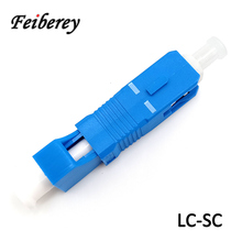 LC UPC Female to SC UPC Male Fiber Optic Hybrid Adapter for Singlemode SM 9/125 Optical Fiber Rectangle LC-SC Connection in FTTH single mode sm 9 125 fiber optic adapter 2 5mm to 1 25mm lc female to fc male connector fc lc hybrid adapter hot selling