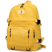 New Design USB Charging Backpacks Women School Bag Backpack for Teenage Girls Mochila Leisure Travel Daily Bagpack Female-Yellow