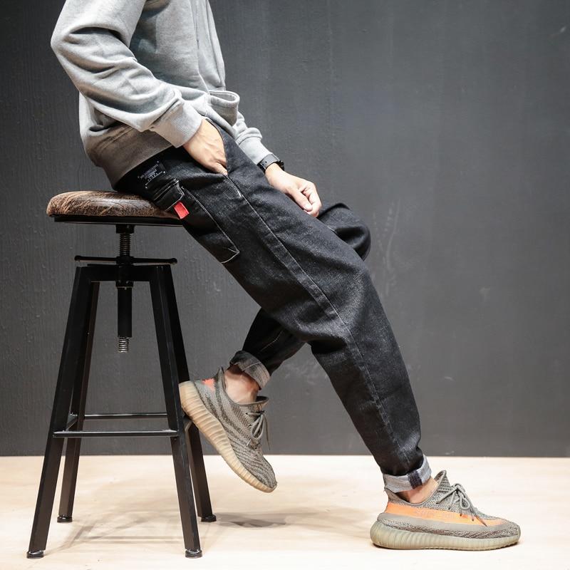 Couleur Noir Harem Slim Denim Poches Hommes Marque Printemps Pantalon De Homme Vêtements 2018 Jeans Mode 0XgYgq