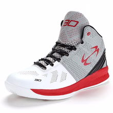 Men Adult  High Quality Sneakers Black and Whit Basketball Boots Indoor Basketball Shoes #BS2001W