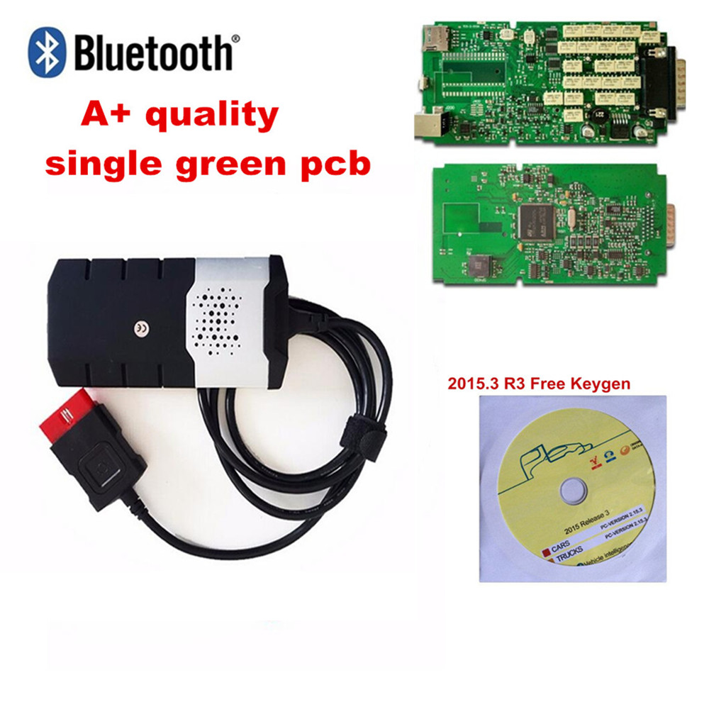 10PCS A++ Quality single pcb for delphis With bluetooth Vd Ds150e Cdp board Obd2 Scan Cdp Pro Plus for car truck diagnostic tool 10pcs green pcb tcs cdp pro plus new vci diagnostic scan tools with bluetooth for cars