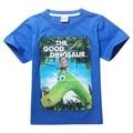 2017 Verão A Boa Dinossauro Meninos Crianças Camiseta de Algodão a Boa Camisa Dinossauro Para Meninos Roupa Dos Miúdos Do Bebê Meninas Tees