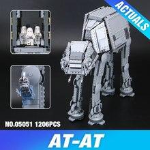 Lepin 05051 Yıldız Savaşı Serisi Kuvvet Uyandırmak AT-AT Transpotation Zırhlı Robot 75054 Yapı Taşları Tuğla Eğitici Oyuncaklar