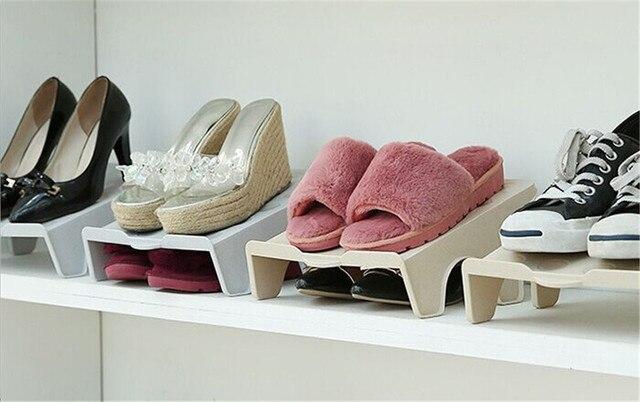 Shoe Racks And Organizers Mesmerizing Shoes Rack Organizer Space Saving Plastic Rack Home Use Shoe