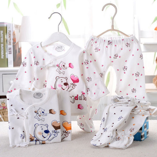 2017 summer 0-3 month newborn baby infant boys girls sports brand cotton underwear suit baby clothing sets for baby clothes set