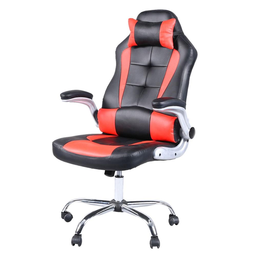 High Back Racing Chair Gaming Swivel Chair Black & Red Dropshipping цена