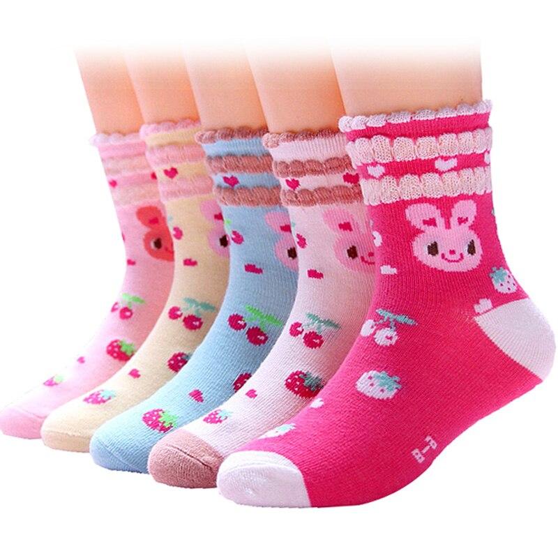 Socken, Strumpfhosen & Leggings Geschickt 5 Paare/los Mädchen Socken Für Kleinkind Kinder Kinder Nette Mode Casual Baumwolle Socken 1-12 Jahre Socken
