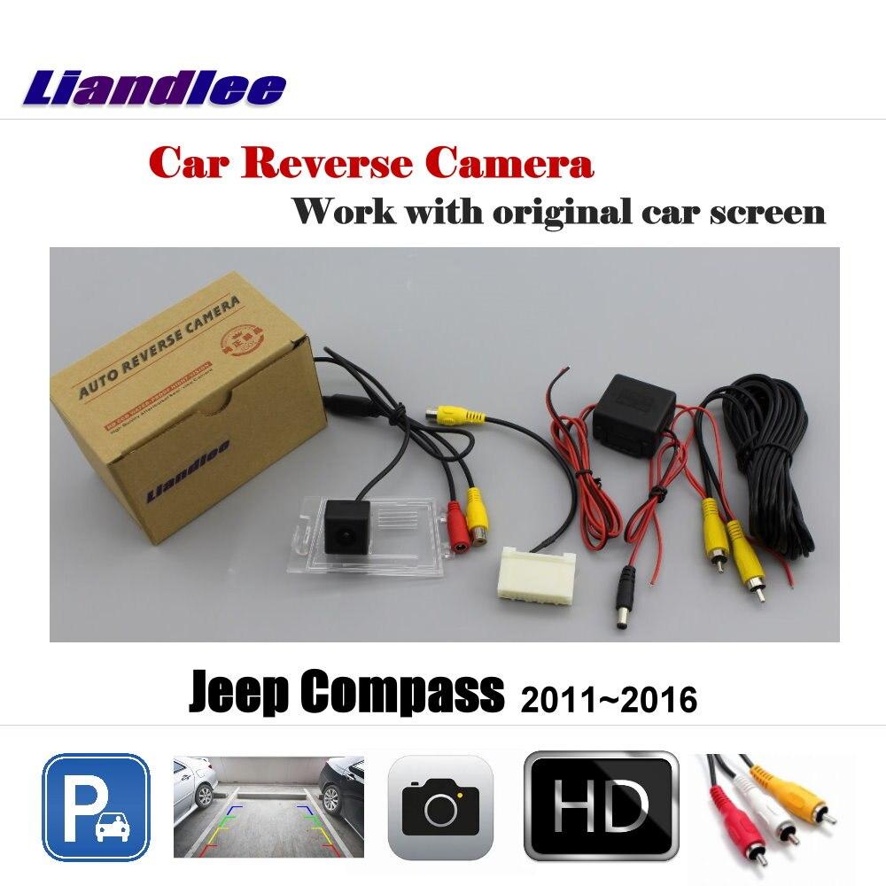 Liandlee Per Jeep Compass 2011 ~ 2016 Schermo/Car Rear View Telecamera per la Retromarcia Posteriore della Macchina Fotografica di Backup Inverso Retromarcia Telecamera di Parcheggio fotocamera