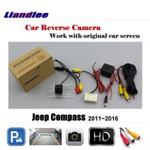Liandlee For Jeep Compass 2011~2016 Screen / Car Rear View Rearview Camera Back Backup Camera Reverse Reversing Parking Camera include car reversing camera for audi a6 2016 mib2 interface adapter backup parking rear view camera connect original screen