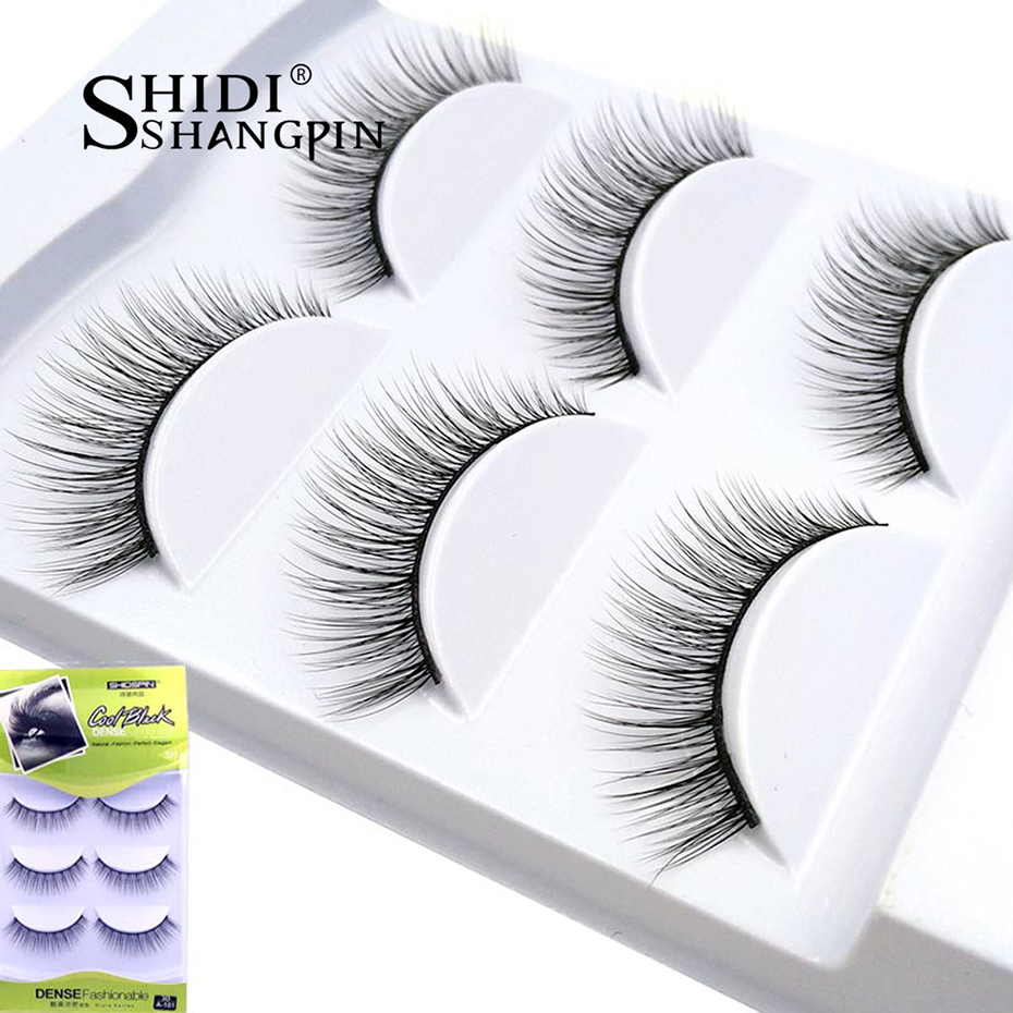 3 par 3D Mink Lashes Natural Long Spissete Øyevipper Håndlaget Fake Lashes 1 Box Øyebrytelse Extension Mink Øyevipper For Beauty