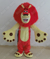 cosplay costumes red hair lion Mascot Costume for Adult Fancy Dress Party Halloween Costume