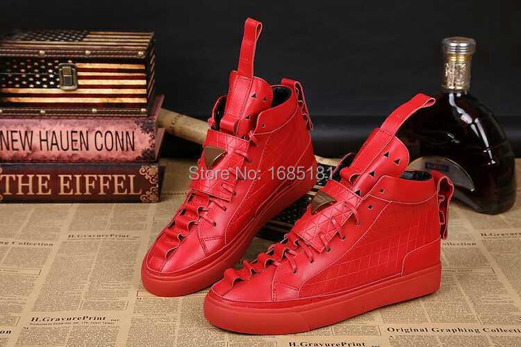 4aee266210fd25 2016 nuovi uomini rossi scarpe patrick mohr casual da uomo in pelle scarpe  in pelle di alta scarpe per il tempo libero di marca di alta cima scarpe in  2016 ...