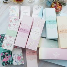21.5*7.2*5cm 30pcs 14 style choose flower Paper Box bake Macarons cookie candy Chocolate wedding birthday Party gift pack