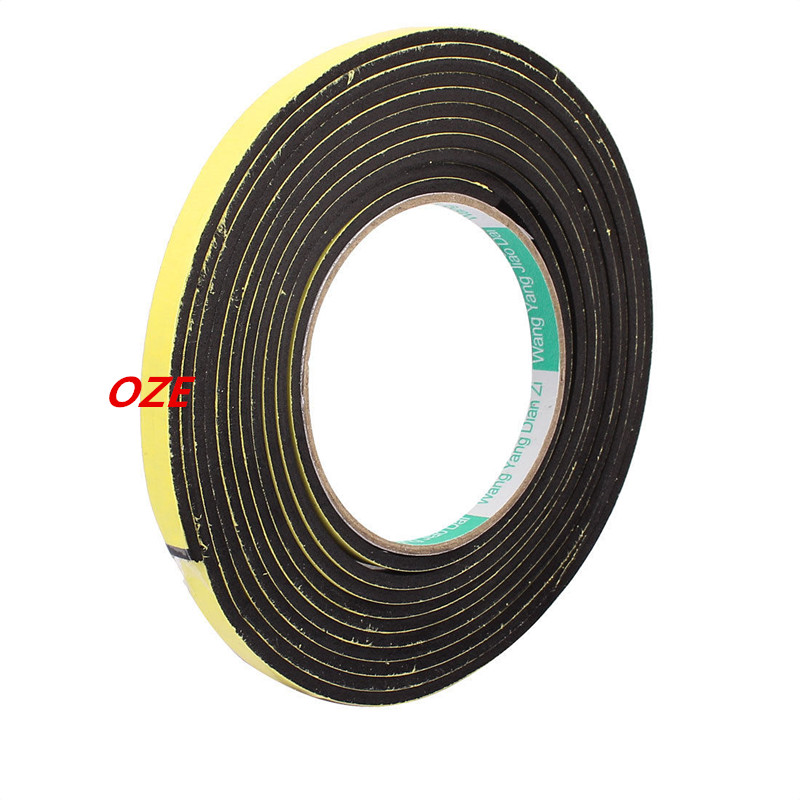 4M 8mm x 3mm Single-side Adhesive Shockproof Sponge Tape Yellow Black 1pcs 45mm x 5mm single sided self adhesive shockproof sponge foam tape 3 meters