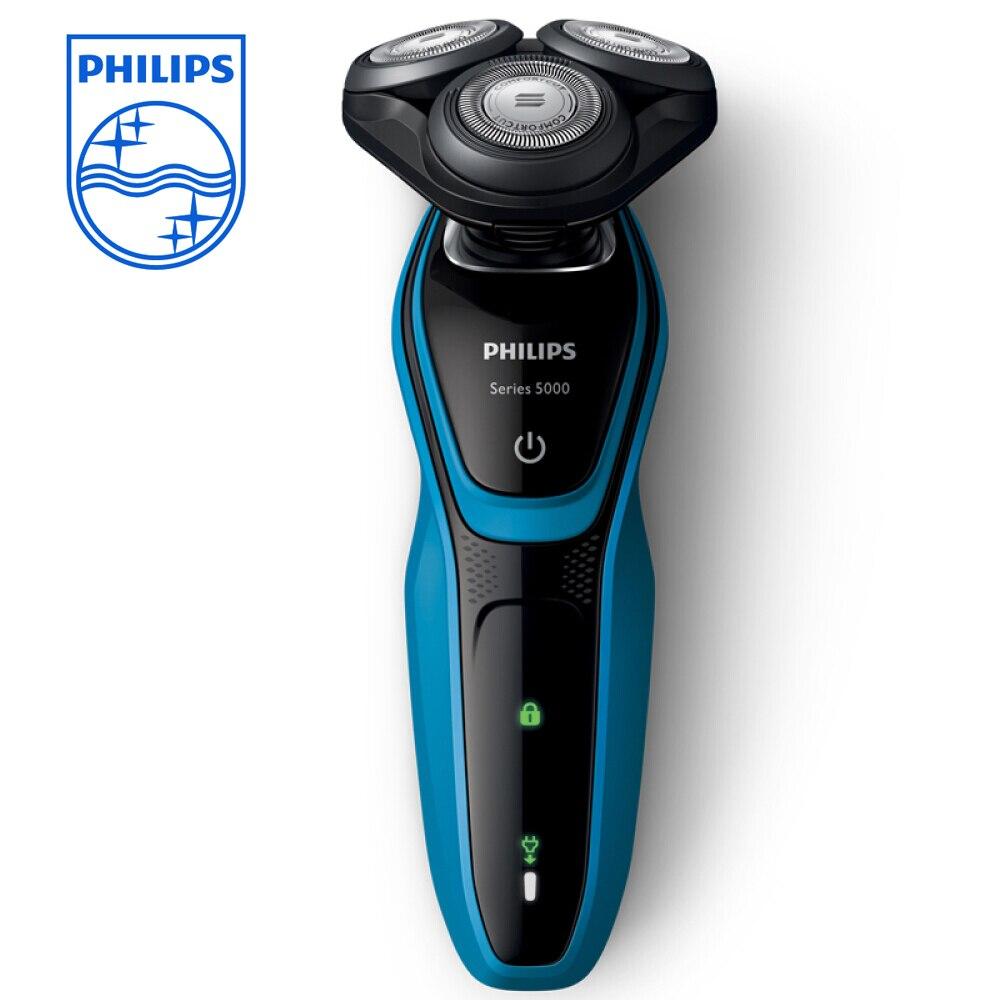 PHILIPS S5077/03 электрическая бритва Для мужчин Путешествия Перезаряжаемые Многофункциональный Интеллектуальное промывают бритвы с триммер для