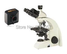 Wholesale prices Hot Sale,5M,Brightfield 40x-1000X USB digital biological clinical microscope with UIS plan objective 4x, 10x, 40x, 100x