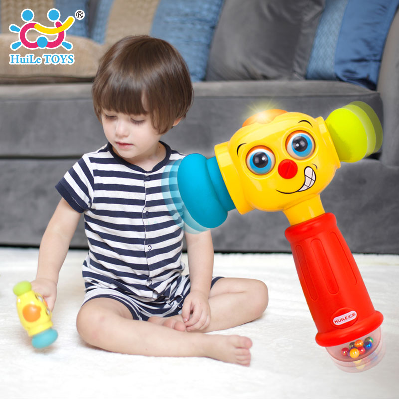 HUILE TOYS 3115 Baby Toys Toddler Play Hammer Toy with Music & Lights Electric Toys Improve Baby's Operation Ability 12 month+