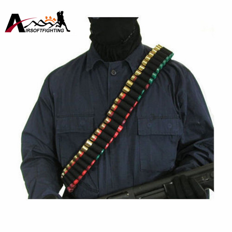 140 * 5cm 50 Shotgun Shell Bandolier Belt 12 GA 20GA Tactical Jakt - Jakt - Foto 2