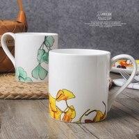 Абрикос серии, костяного фарфора, творческая чашка кофе, европейский стиль кофе, костюм для кофе и чай черный, Бесплатная доставка