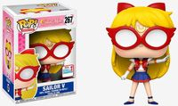 2017 NYCC Exclusive Funko pop Official Animation Sailor Moon - Sailor V #267 Vinyl Action Figure Collectible Model Toy