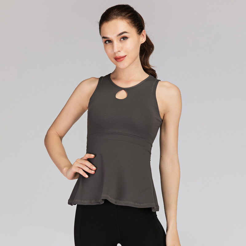 Women Gym Solid Yoga Crop Tops Quick Dry Shirts Sleeveless Workout Top Fitness Running Sport T Shirts Training Vest Sportswear in Yoga Shirts from Sports Entertainment