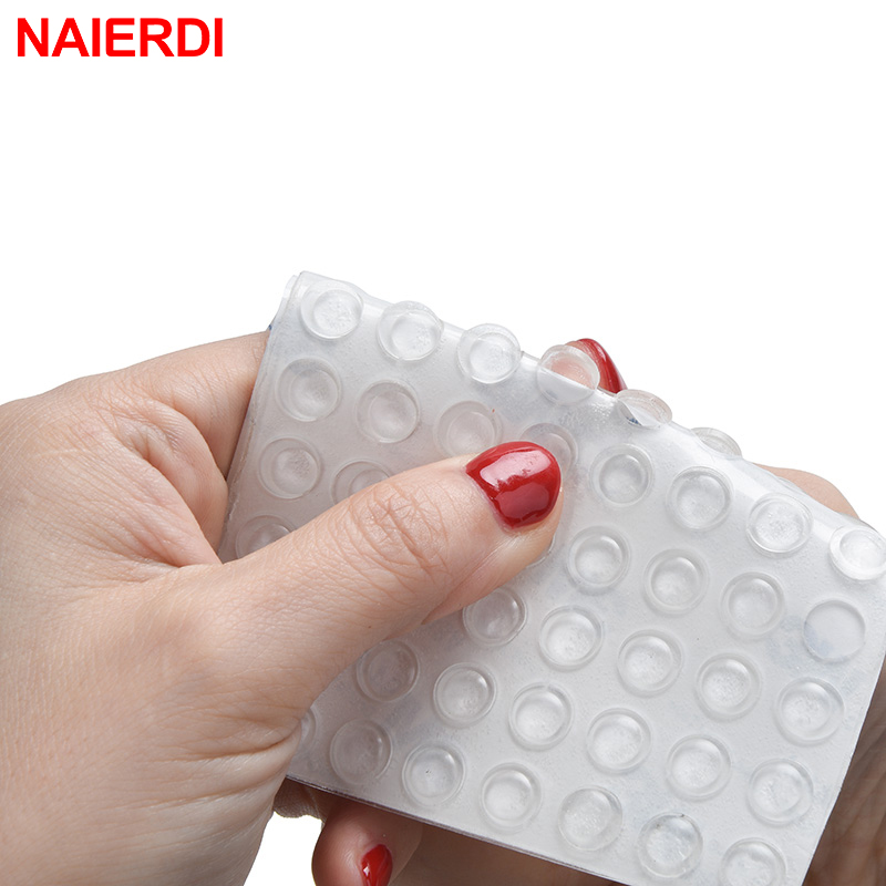 NAIERDI 40/50/80PCS Self-adhesive Cabinet Bumpers Silicone Pads Cabinet Catches Durable Cushion Prevent Noisy Hardware
