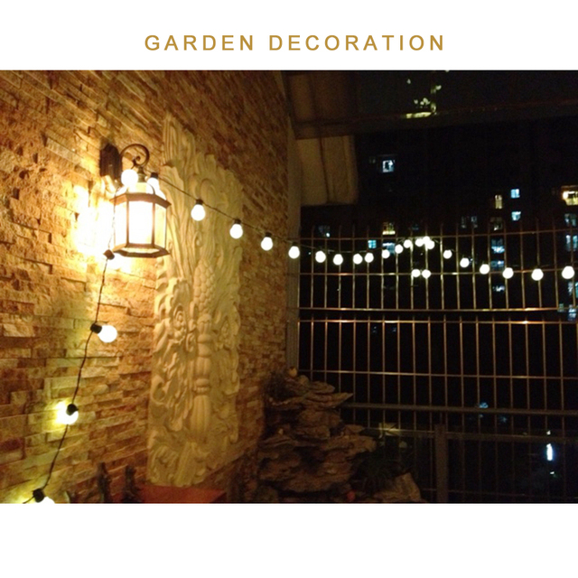 5.9M 20 LED String Light Outdoor Fairy Lights Garland G45 Bulbs Garden Home Wedding Christmas Decoration Lights Chain Waterproof 2
