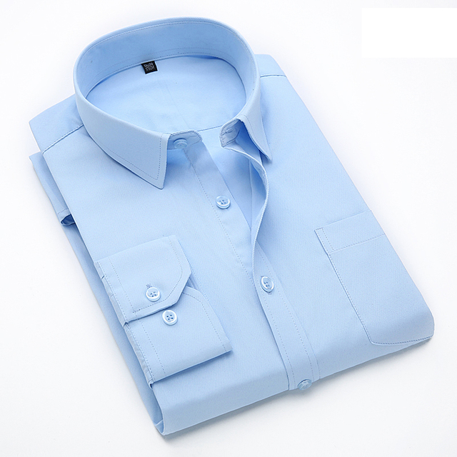5737422181cd8 US $18.02 |5XL Large Size Men's Business Casual Long Sleeved Shirt White  Blue Black Smart Male Social Dress Shirt Plus-in Casual Shirts from Men's  ...