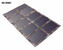 GGX ENERGY DIY Portable Folding 100W/18V Monocrystalline Solar Panel Charger Bag for Laptop/12V Battery Factory цена