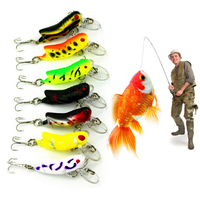 7PCS 4.5cm 4g Grasshopper insects Fishing Lures Sea fishing Tackle Flying Jig Wobbler Lure hard lure bait Artificial bait Tool