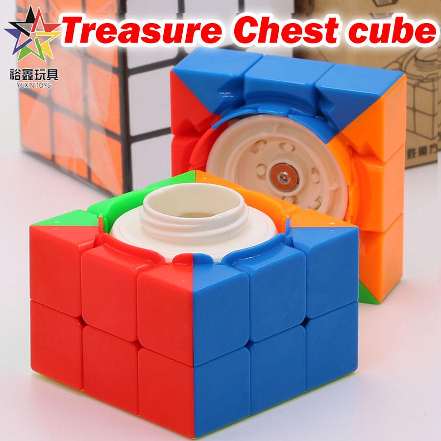 Puzzle Magic Cube YuXin 3x3x3 3*3*3 333 Treasure Chest Cube Secret Box Treasures Of Box Kit Special Twist Wisdom Logic Gift Toys